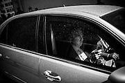 Maurizio Gasparri in auto blu per le strade della capitale. Roma 25 giugno 2014.  Christian Mantuano / OneShot