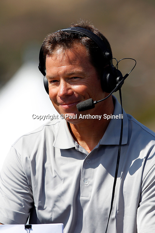 Former Seattle Seahawks head coach Jim Mora works as an analyst for NFL Network while covering the EA Sports Madden NFL 11 Launch celebrity and NFL player flag football game held at Malibu Bluffs State Park on July 22, 2010 in Malibu, California. (©Paul Anthony Spinelli)