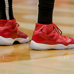 Dec 16, 2018; New Orleans, LA, USA; Shoes worn by Miami Heat center Hassan Whiteside against the New Orleans Pelicans during the second half at the Smoothie King Center. Mandatory Credit: Derick E. Hingle-USA TODAY Sports