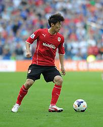 Cardiff City's Kim Bo-Kyung  - Photo mandatory by-line: Alex James/JMP - Tel: Mobile: 07966 386802 25/08/2013 - SPORT - FOOTBALL - Cardiff City Stadium - Cardiff -  Cardiff City V Manchester City - Barclays Premier League