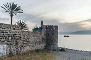 Israel, Tiberias, The St Peter Church on the water front of the Sea of Galilee