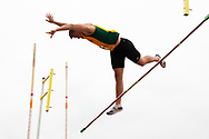 UVM's Martin Kallur competes in the pole vault during the first day of the America East Track and Field Championship at the Frank H. Livak Track and Field Facility on Saturday May 3, 2014 in Burlington, Vermont. (BRIAN JENKINS, for the Free Press)