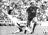 Fotball<br /> Bayern München<br /> Foto: Witters/Digitalsport<br /> NORWAY ONLY<br /> <br /> Lothar MATTHÄUS / Karl-Heinz RUMMENIGGE<br /> Borussia Mönchengladbach - FC BAYERN MÜNCHEN<br /> 1981