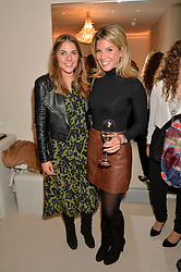 Left to right, KATY COLLETT and the Duchess of Cambridge's stylist NATASHA ARCHER at the launch of the new J&M Davidson flagship shop at 104 Mount Street, London on 3rd February 2016.