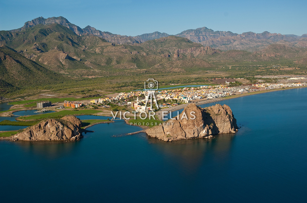 Aerial photo of Loreto. Baja California Sur, Mexico.