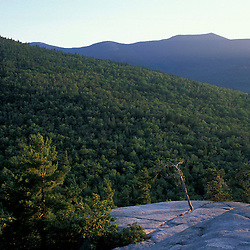 North Conway, NH.The view of North Moat Mountain from Cathedral Ledge in Echo Lake State Park.  White Mountains.