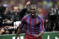 Fotball<br /> Foto: imago/Digitalsport<br /> NORWAY ONLY<br /> <br /> 17.05.2006  <br /> <br /> Samuel Etoo (FC Barcelona) - Torjubel