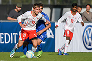 21.09.2017; Niederhasli; FUSSBALL U16 - Schweiz - Italien;<br /> Nenad Zivkovic (SUI) Simone Trimboli (ITA) <br /> (Andy Mueller/freshfocus)