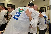 DESCRIZIONE : Final Eight Coppa Italia 2015 Finale Olimpia EA7 Emporio Armani Milano - Dinamo Banco di Sardegna Sassari<br /> GIOCATORE : Stefano Sardara <br /> CATEGORIA : esultanza post game post game<br /> SQUADRA : Banco di Sardegna Sassari<br /> EVENTO : Final Eight Coppa Italia 2015<br /> GARA : Olimpia EA7 Emporio Armani Milano - Dinamo Banco di Sardegna Sassari<br /> DATA : 22/02/2015<br /> SPORT : Pallacanestro <br /> AUTORE : Agenzia Ciamillo-Castoria/Max.Ceretti