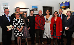 Pictured at the official opening of the Rolling Sun festival at the Clew Bay Hotel were Harry Hughes , Aine Ryan, Ger Reidy, Mairead Bourke, Belinda McKeon, Tony Reidy, Tamasin Day-Lewis Marie Madden, Austin Vaughan and Ursula Skerritt...Pic Conor McKeown