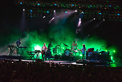 July 3, 2018 - Milwaukee, Wisconsin, U.S - Foster the People during Summerfest Music Festival at Henry Maier Festival Park in Milwaukee, Wisconsin (Credit Image: © Daniel DeSlover via ZUMA Wire)