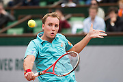 Paris, France. Roland Garros. May 26th 2013.<br /> Belgium player Steve DARCIS against Michael LLODRA