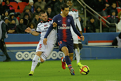 January 19, 2019 - Paris, Ile de France, France - Paris SG Midfield ANGEL DI MARIA in action during the French championship League 1 Conforama match Paris SG against EA Guingamp at the Parc des Princes Stadium in Paris - France..Paris SG won 9-0 (Credit Image: © Pierre Stevenin/ZUMA Wire)
