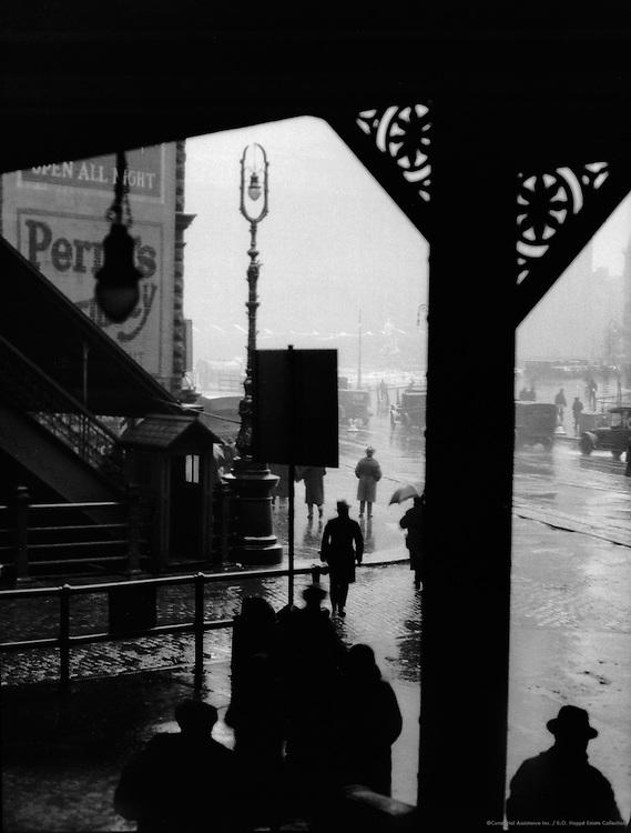 Under the El Railway Bridge, New York City, 1921