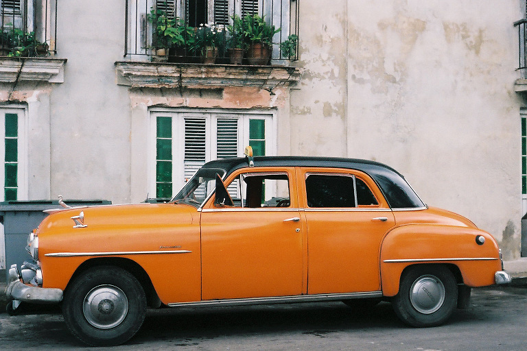 Havana Orange Car Cuba Photography
