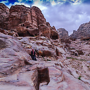 Among the ruins in Petra, Bedouins can still be found dwelling in caves the same as they lived hundreds of years ago.