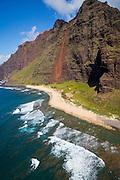 Milolii Beach State Park, Napali Coast, Kauai, Hawaii