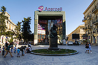 Azerbaijan, Baku. Natavan monument in central Baku.
