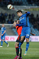 Getafe´s  Velazquez (R)and Real Sociedad´s Canales during 2014-15 La Liga match at Alfonso Perez Coliseum stadium in Madrid, Spain. March 16, 2015. (ALTERPHOTOS/Victor Blanco)
