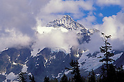 Clearing storm over Mount Shuksan, North Cascade Mountains, North Cascades National Park, Washington