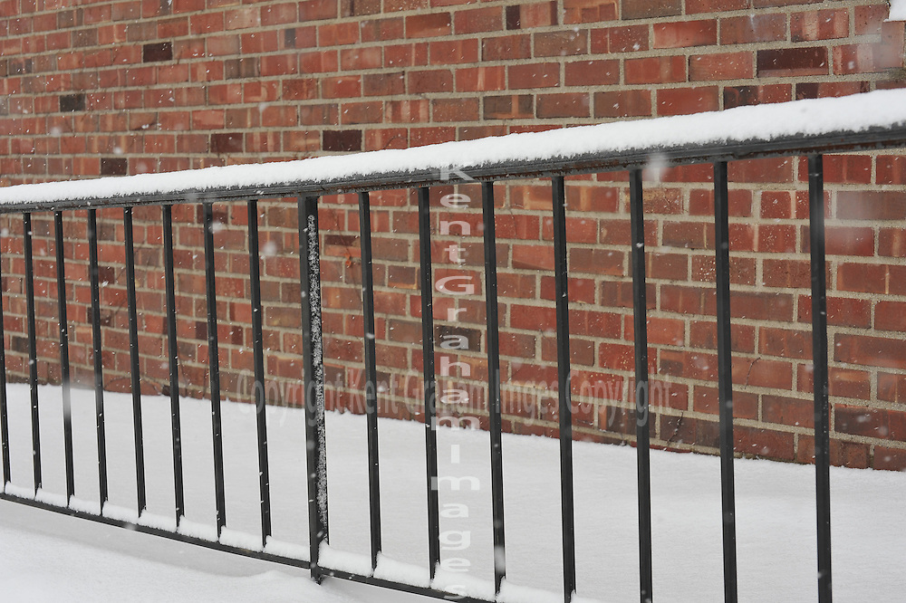 Snowy Wrought Iron Fence Kent Graham Images