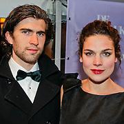 NLD/Amsterdam/20100412 - Premiere film de Gelukkige Huisvrouw, Anna Drijver en partner Benja Bruijning