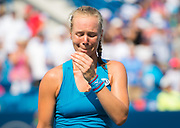 Kiki Bertens of the Netherlands reacts to winning the final of the 2018 Western and Southern Open WTA Premier 5 tennis tournament, Cincinnati, Ohio, USA, on August 19th 2018 - Photo Rob Prange / SpainProSportsImages / DPPI / ProSportsImages / DPPI