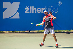 Mate Delic (CRO) play against Albano Olivetti (FRA) at ATP Challenger Zavarovalnica Sava Slovenia Open 2018, on August 5, 2018 in Sports centre, Portoroz/Portorose, Slovenia. Photo by Urban Urbanc / Sportida