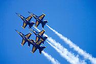 Blue Angels flyby during 2006 Fleet Week performance in San Francisco