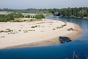 Bight of Ticino river at Torre d'Isola, Pavia, July...Ansa del fiume Ticino a Torre d'Isola, luglio.