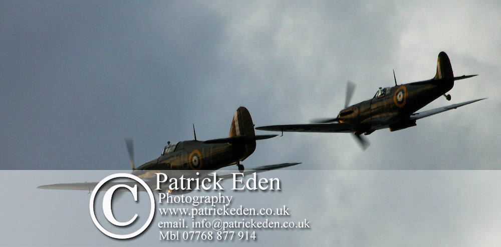 Huricane, Spitfire, Battle of Britain Flight, Little Britain Cup, Cowes, Isle of Wight England Photographs of the Isle of Wight by photographer Patrick Eden photography photograph canvas canvases