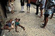 Street children sleeping in Copacobana, an otherwise affluent neighbourhood of Rio.