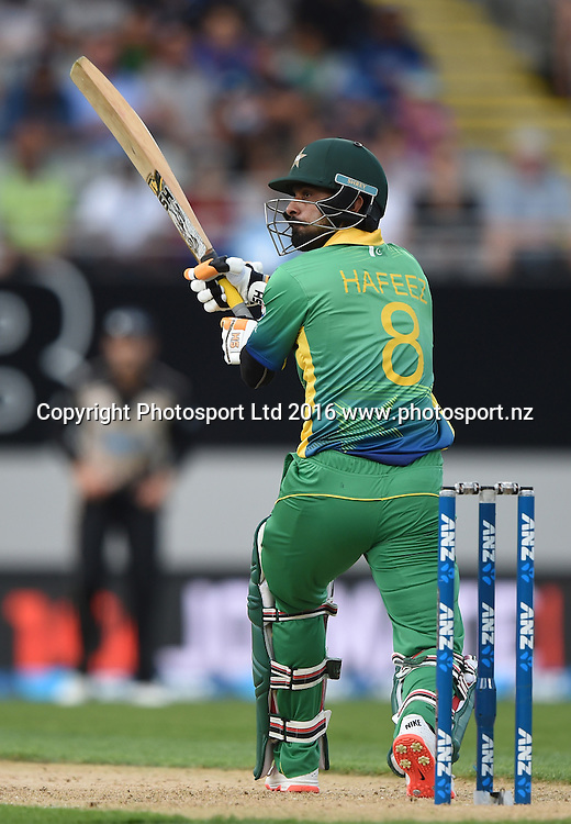 Mohammad Hafeez batting during the Twenty20 match between New Zealand Black Caps and Pakistan at Eden Park in Auckland, New Zealand. Friday 15 January 2016. Copyright photo: Andrew Cornaga / www.photosport.nz