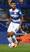 Oscar Gobern (QPR midfielder) dribbling into a clear midfield during the Capital One Cup match between Queens Park Rangers and Carlisle United at the Loftus Road Stadium, London, England on 25 August 2015. Photo by Matthew Redman.