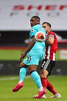Football - 2019 / 2020 Premier League - Sheffield United vs Tottenham Hotspur<br /> George Baldock of Sheffield United and Steven Bergwijn of Tottenham Hotspur, at Bramall Lane.<br /> <br /> COLORSPORT/PAUL GREENWOOD