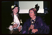Sheila and Betty Robins at Piers Gaveston Ball. Oxford Town Hall. 1981 approx© Copyright Photograph by Dafydd Jones 66 Stockwell Park Rd. London SW9 0DA Tel 020 7733 0108 www.dafjones.com