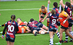 Clara Nielson of Bristol Bears Women scores a try - Mandatory by-line: Paul Knight/JMP - 26/10/2019 - RUGBY - Shaftesbury Park - Bristol, England - Bristol Bears Women v Richmond Women - Tyrrells Premier 15s
