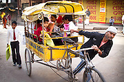 Children travel to school in Varanasi, India. Photograph by Debbie Zimelman, Modiin, Israel