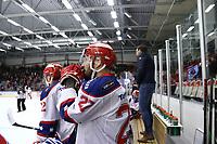 2020-02-12 | Ljungby, Sweden: Huddinge IK (27) Robin Sjörén during the game between IF Troja / Ljungby and Huddinge IK at Ljungby Arena ( Photo by: Fredrik Sten | Swe Press Photo )<br /> <br /> Keywords: Ljungby, Icehockey, HockeyEttan, Ljungby Arena, IF Troja / Ljungby, Huddinge IK, fsth200212, ATG HockeyEttan, Allettan