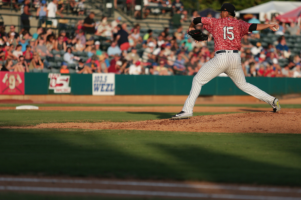 Rome Braves vs. Charleston RiverDogs at Joseph P. Riley Ballpark in Charleston, S.C. on Thursday, June 28, 2018.<br /> Zach Bland/Charleston RiverDogs