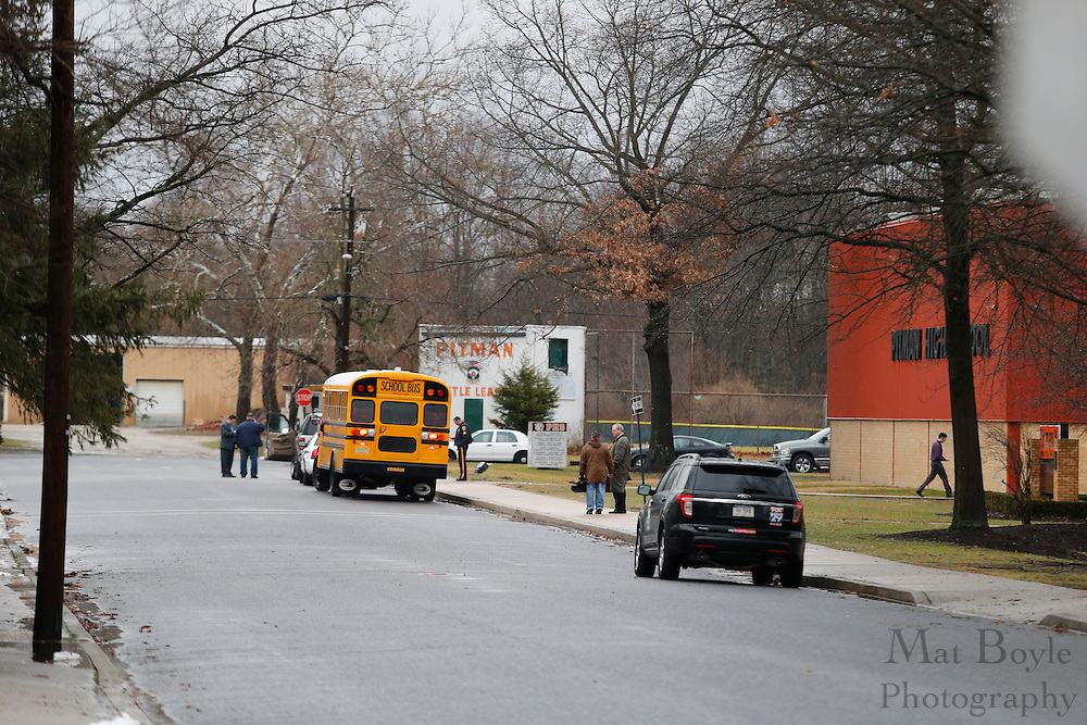 School Shooting Threat at Pitman High School in Pitman, NJ on Monday January 6, 2014. (photo / Mat Boyle)