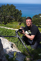 Photographer Peter Lilja in action, Akamas Peninsula, Cyprus