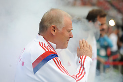 09.08.2014, Allianz Arena, Muenchen, GER, 1. FBL, FC Bayern M&uuml;nchen, Teampr&auml;sentation, im Bild Co-Trainer Hermann Gerland (FC Bayern Muenchen) // during the Team Presentation of German Bundesliga Club FC Bayern Munich at the Allianz Arena in Muenchen, Germany on 2014/08/09. EXPA Pictures &copy; 2014, PhotoCredit: EXPA/ Eibner-Pressefoto/ Stuetzle<br /> <br /> *****ATTENTION - OUT of GER*****