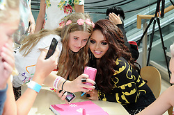 © Licensed to London News Pictures. 30/08/2012.Little Mix book signing at Bluewater shopping complex in Kent.. X-Factor star  Jesly Nelson.Photo credit : Grant Falvey/LNP