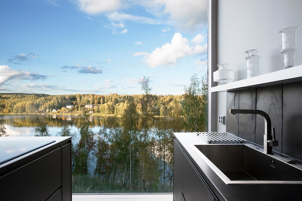 Private residence in Nokia, Finland designed by Tilasto architects. Architectural photography by Tuomas Uusheimo.