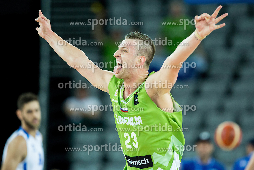 Alen Omic of Slovenia during basketball match between Slovenia vs Greece at Day 5 in Group C of FIBA Europe Eurobasket 2015, on September 9, 2015, in Arena Zagreb, Croatia. Photo by Vid Ponikvar / Sportida