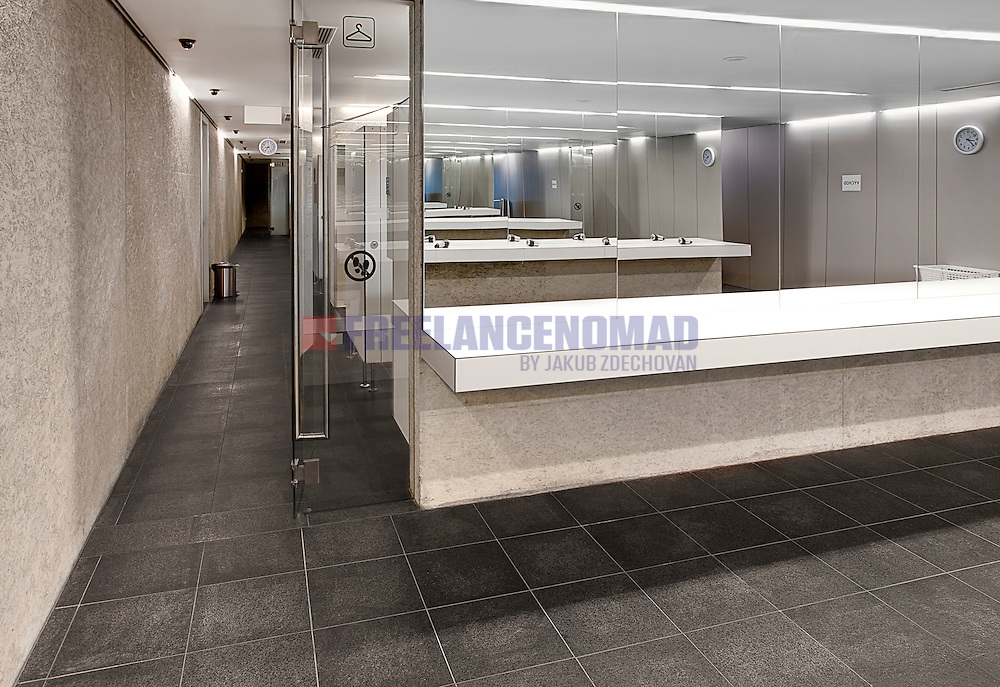 Granite G684 Black rain basalt changing room tiles interior paving project
