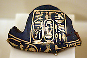Fragment of vessel with cartouche of Amenhotep 111. New Kingdom, 18th Dynasty 1388-1351 BC Faience.