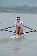 Chungju, South Korea. GBR LM1X, Jamie KIRKWOOD, at the start of his heat,  pours water over himself, before racing. 2013 FISA World Rowing Championships, , Tangeum Lake International Regatta Course. 10:21:01  Sunday  25/08/2013 [Mandatory Credit. Peter Spurrier/Intersport Images]