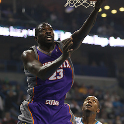 Feb 01, 2010; New Orleans, LA, USA; Phoenix Suns guard Jason Richardson (23) shoots over New Orleans Hornets forward David West (30) during the first half at the New Orleans Arena. Mandatory Credit: Derick E. Hingle-US PRESSWIRE